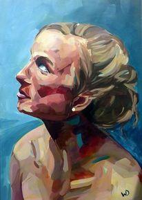 Realismus, Frau, Augen, Oberkörper