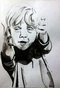 Junge, Lachen, Zeichnungen