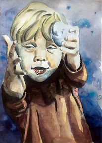 Lächeln, Junge, Kindheit, Portrait