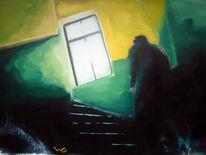 Menschen, Stiegenhaus, Wand, Licht