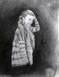 Portrait, Lachen, Lächeln, Mädchen