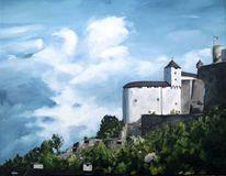 Himmel, Österreich, Schloss, Wolken