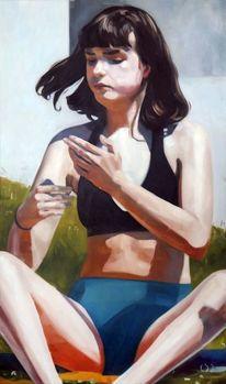 Mächen, Portrait, Licht, Malerei
