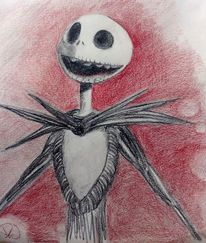 Nightmare before christmas, Skelett, Zeichnungen,