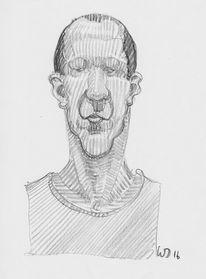 Kopf, Portrait, Comic, Zeichnungen