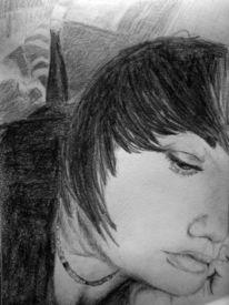 Gesicht, Portrait, Mädchen, Zeichnungen