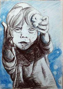 Junge, Lachen, Portrait, Kind