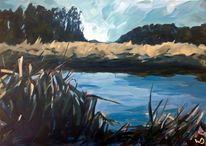 Fluss, Himmel, Realismus, Natur