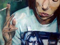 Rauch, Jugend, Frau, Zigarette