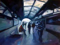 Leben, Zug, Bahnhof, Fenster