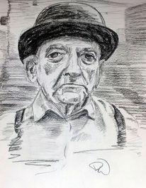 Falten, Alter, Portrait, Zeichnungen