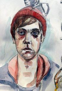 Portrait, Aquarell