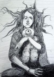 Hexe, Grusel, Teddybär, Haare