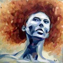 Haare, Portrait, Licht, Blau