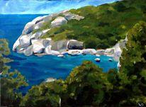 Küste, Felsstrand, Himmel, Realismus