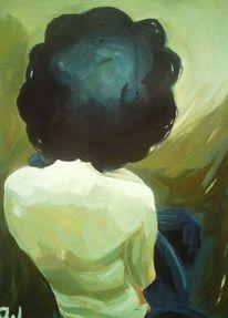 Licht, Frau, Akt, Rücken