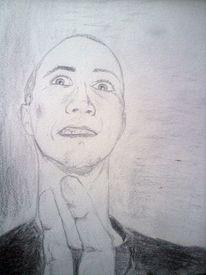 Zeichnungen, Selbstportrait, Psycho