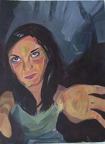 Portrait, Wald, Zauberei, Hände