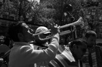 Schwarzweiß, Trompete, Mann, Menschen