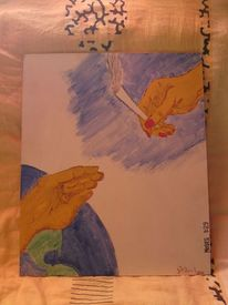 Bibel, Götin, Gott, Aquarell