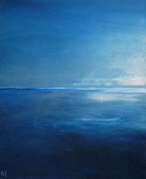Blau, Landschaft, Meer, Malerei