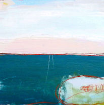 Landschaft, Benzin, Rosa, Malerei