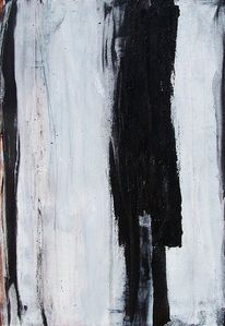 Schwarzweiß, Acrylmalerei, Hochformat, Kohlezeichnung