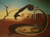 Dalí, Surreal, Malerei, Augenblick
