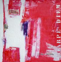Abstrakt, Lila, Malerei, Modern
