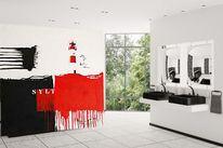 Wohnraumdesign, Abstrakt, Gemälde, Leuchtfeuer