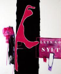 Pink, Gemälde, Malerei, Abstrakt