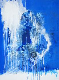 Malerei, Meer, Abstrakt, Insel