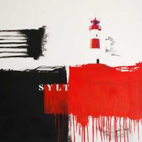 Malerei, Abstrakt, Gemälde, Sylt