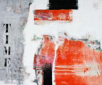 Design, Zeit, Gemälde, Abstrakt
