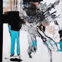 Modern, Goethe, Gemälde, Abstrakt