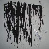 Schwarzweiß, Silber, Abstrakt, Malerei