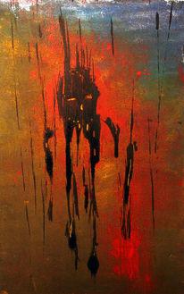 Holz, Acrylmalerei, Malerei, Abstrakt