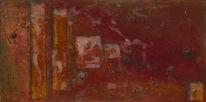 Muschel, Acrylmalerei, Holz, Mischtechnik