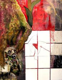 Kachel, Ölmalerei, Katastrophe, Böse