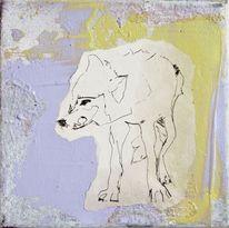 Ölmalerei, Violet, Oliv, Acrylmalerei