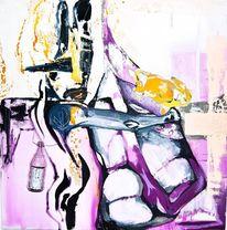 Figur, Tod, Surreal, Violett