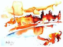 Flammen, Rom, Brennen, Malerei