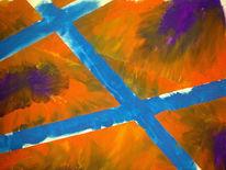 Malerei, Abstrakt, Blau