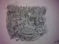 Zeichnungen, Stillleben, Frau, Kleid