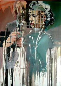 Hände, Frau, Monroe, Malerei