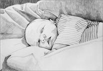 Portraitzeichnung, Portrait, Zeichnen, Zeichnung