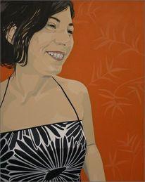 Fotografie, Acrylmalerei, Portrait, Malerei
