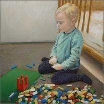Kinderportrait, Ölmalerei, Malen, Portrait
