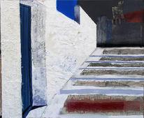 Kreta, Struktur, Treppe, Hauswand
