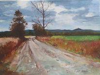 Gras, Kyffhäuser, Herbst, Feldweg